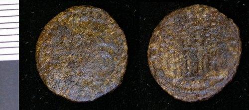 LEIC-DC5C41: C175 Copper allloy nummus Constantine I 330-335, contemporay copy?
