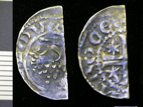 LEIC-C5A406:  Medieval silver halfpenny of William I of Scotland