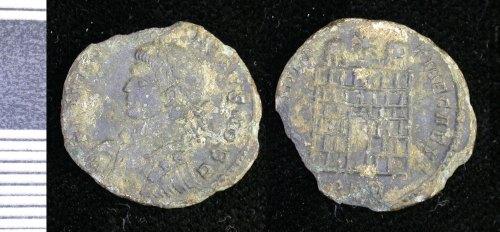 LEIC-CE5686: Roman copper alloy nummus of Constantius II