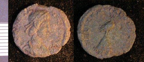 LEIC-DE8363: Roman copper alloy coin