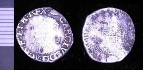 LEIC-33CA15: post medieval silver halfgroat