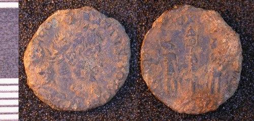 LEIC-F58CF2: Roman copper alloy nummus of Constantius II