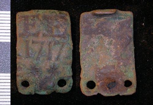 LEIC-F82DD1: Post Medieval copper alloy clasp