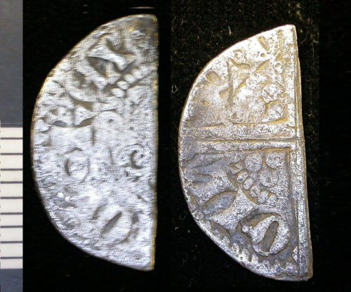 LEIC-FA1AC4: Medieval silver halfpenny of Henry III
