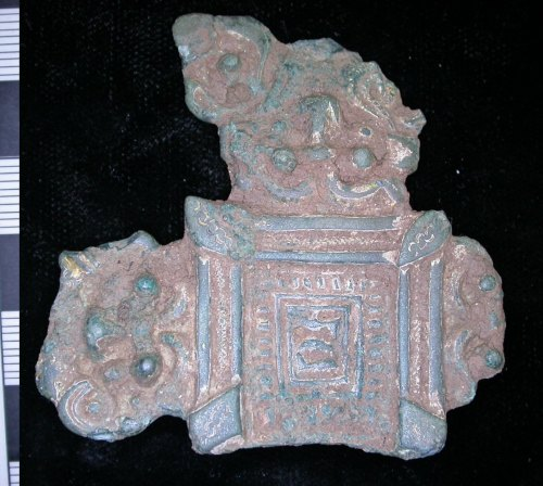 LEIC-FB0026: early Medieval copper alloy brooch