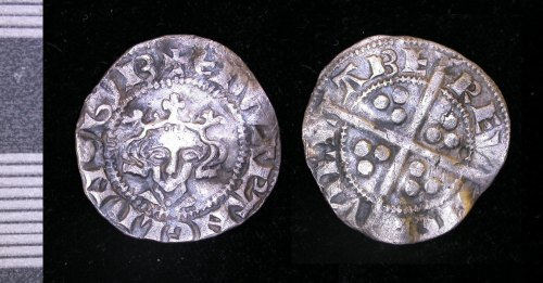 LEIC-23D8C4: Medieval silver edwardian penny
