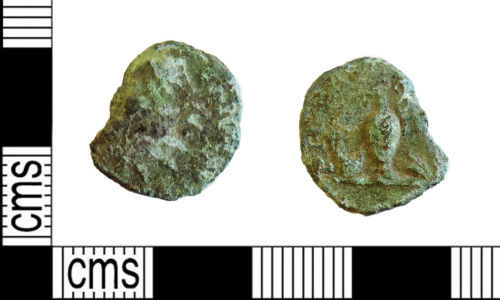LEIC-4C1551: Roman copper ally radiate of  Tetricus