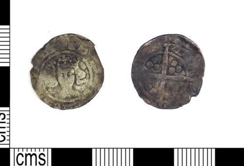 LEIC-54EEE8: Medieval silver Edwardian penny