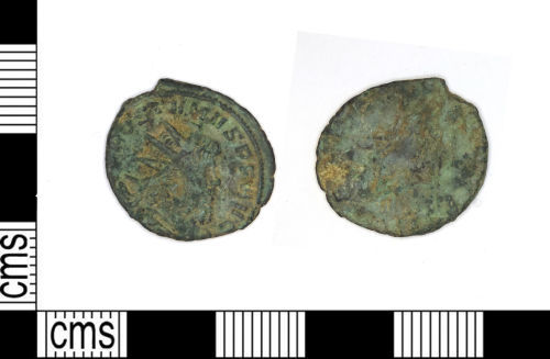 LEIC-587631: roman copper alloy radiate of Postumus