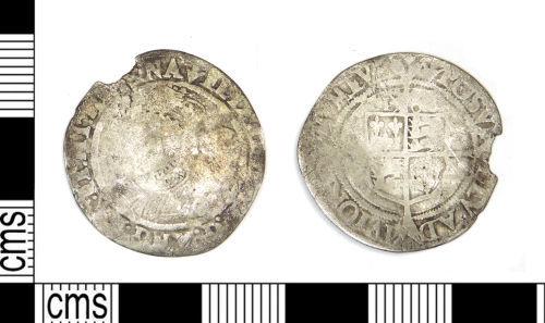 LEIC-599ECA: Post Medieval silver coin of Elizabeth I