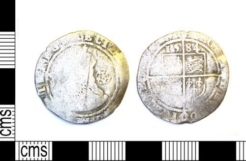 LEIC-5BE1B3: Post Medieval silver coin of Elizabeth I