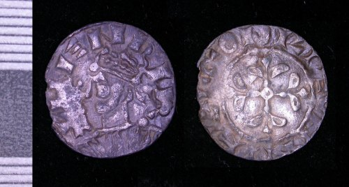LEIC-6180B5: Medieval silver penny of Henry I