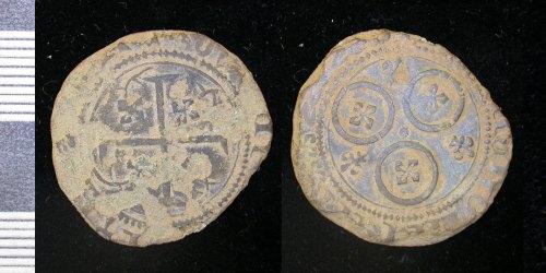 LEIC-7D9000: Medieval copper alloy jetton