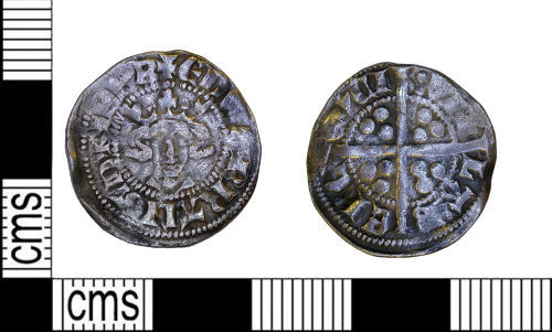 LEIC-7DCAFC: Medieval silver penny of Edward I