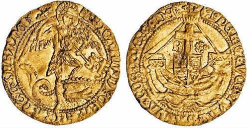 LEIC-E209C1: Medieval gold angel of Richard III