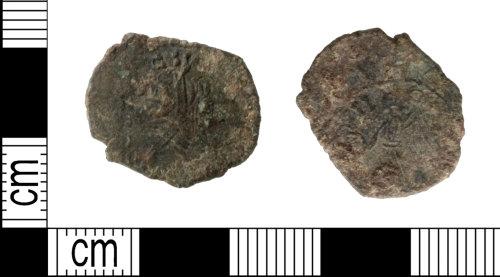 LEIC-0338F5: Roman copper al;loy radiate