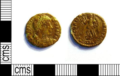 LEIC-1BC852: Roman copper alloy nummus