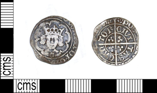 LEIC-1FE019: medieval silver penny of Edward IV