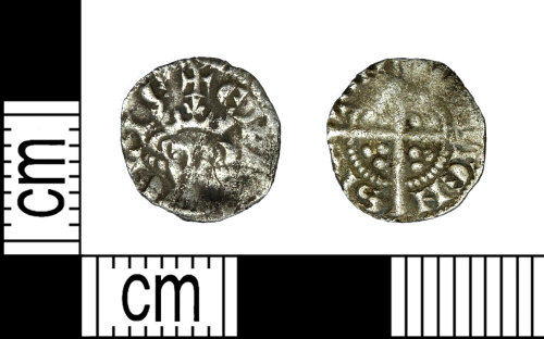 LEIC-24A35C: Medieval silver farthing of Edward I