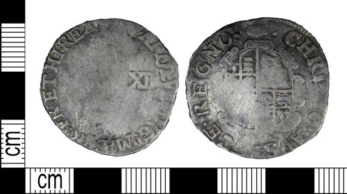 LEIC-256D30: Post Medieval silver shilling of Charles I