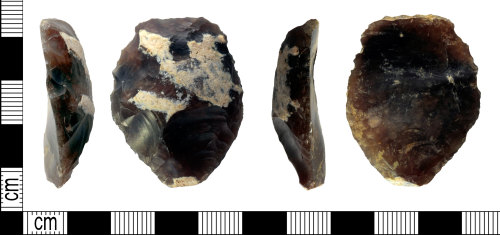 LEIC-286044: late Neolithic early Bronze age flint scraper