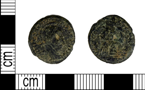 LEIC-2C77BB: Roman copper alloy Nummus of Constantine I