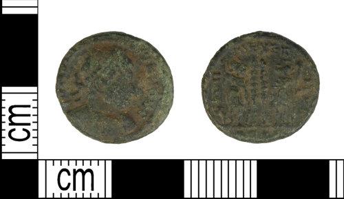 LEIC-2CE51E: Roman copper alloy Nummus of the house of Constantine