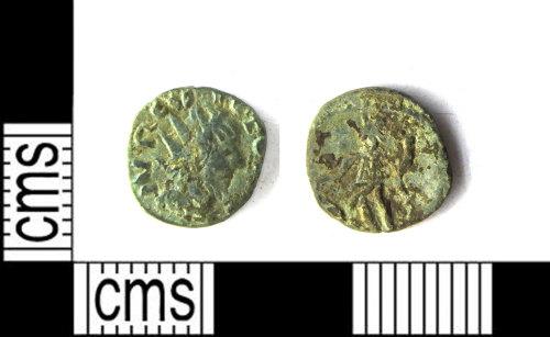 LEIC-3EE51E: Roman copper alloy Radiate of Victorinus?
