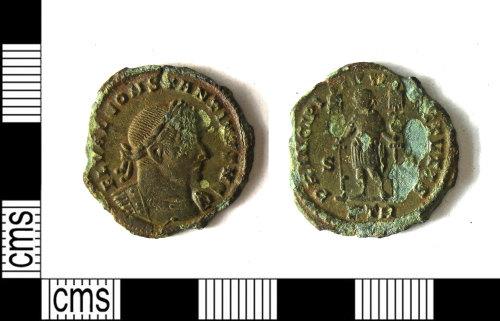 LEIC-3F6FBC: Roman copper alloy nummus of Constantine I