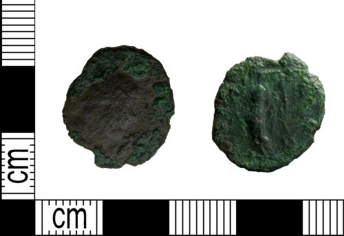 LEIC-437553: Roman copper alloy Radiate