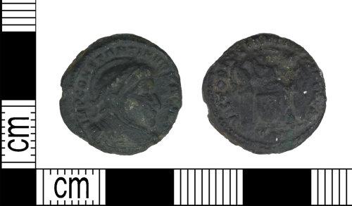 LEIC-43F714: Roman copper alloy Nummus