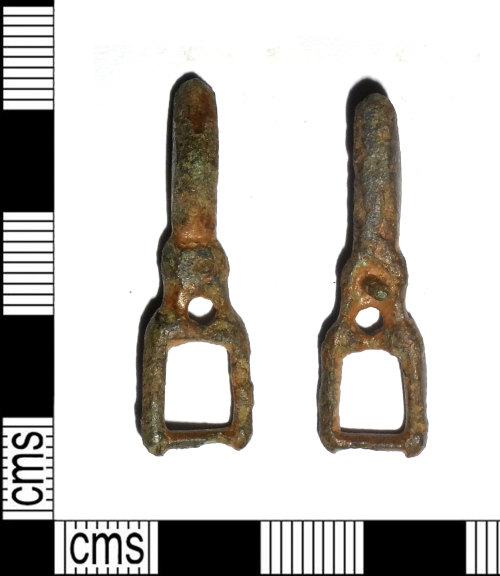 LEIC-45954C: Medieval copper alloy buckle and plate