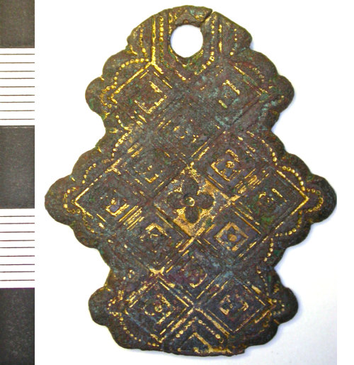 LEIC-49F458: Post medieval copper alloy hasp