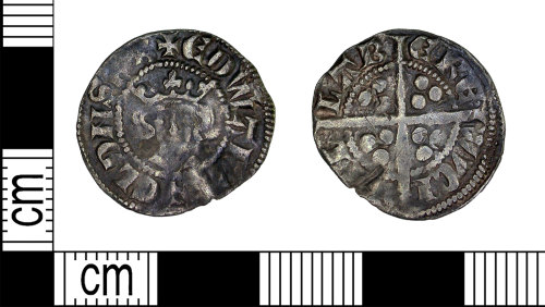 LEIC-67A00C: Medieval silver penny of Edward I