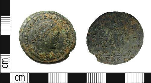 LEIC-67DA0B: Roman copper alloy nummus of Constantine I