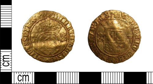 LEIC-686855: Post Medieval gold rose of Henry VIII
