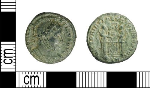 LEIC-6CE21B: Roman copper alloy Nummus of Constantine I