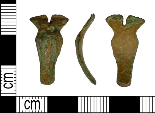 A resized image of Roman copper alloy Hod hill bow brooch