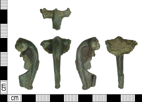 LEIC-6E27D7: Roman copper alloy bow brooch - unfinished casting