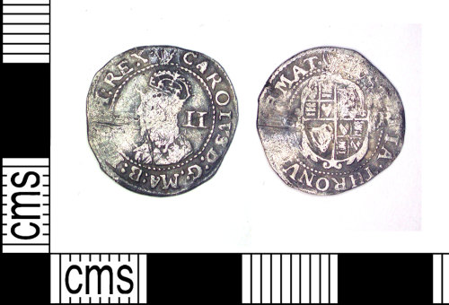LEIC-6F33CB: Post medieval silver halfgroat of Charles I