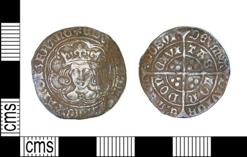 LEIC-70C017: Medieval silver groat of Edward IV