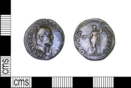 LEIC-719243: Roman silver Denarius of Galba