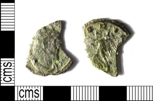 LEIC-77DA54: Roman copper alloy radiate of Tetricus I