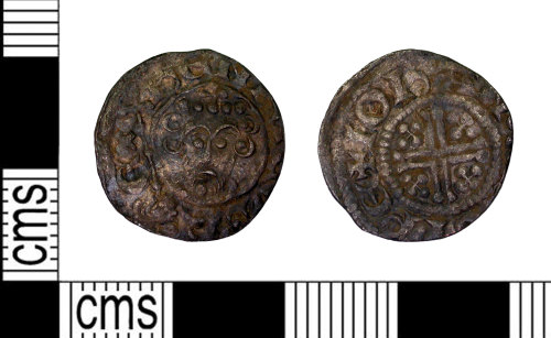 LEIC-7951A5: Medieval silver short cross penny
