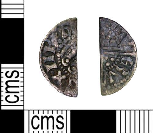 LEIC-79DF54: Medieval silver voided long cross cut halfpenny