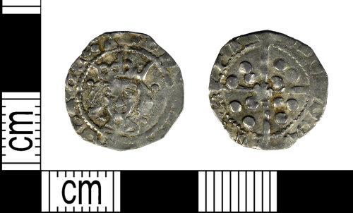 LEIC-7C7084: Late Medieval silver halfpenny