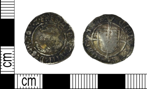 LEIC-7CE489: Post medieval silver penny of Henry VIII