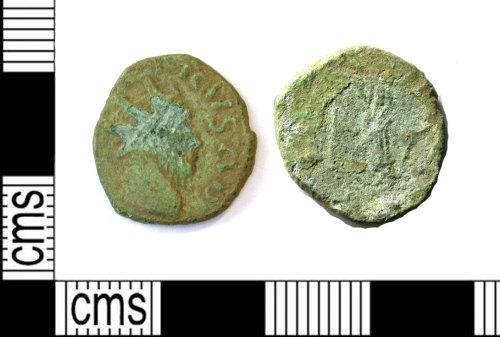 LEIC-9C048E: Roman copper alloy Radiate of Tetricus