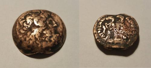 LEIC-9D4903: Greek Ptolemaic bronze coin