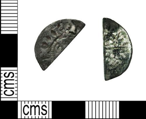 LEIC-9DBCC9: Medieval silver cut halfpenny